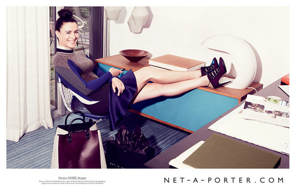 Still the best fashion blogger by far a lady like me for Net a porter
